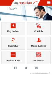 austrian airlines check in español