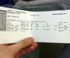 air france check in ticket