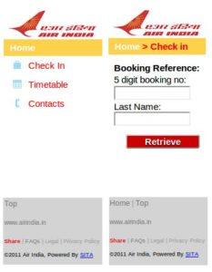 air india check in online