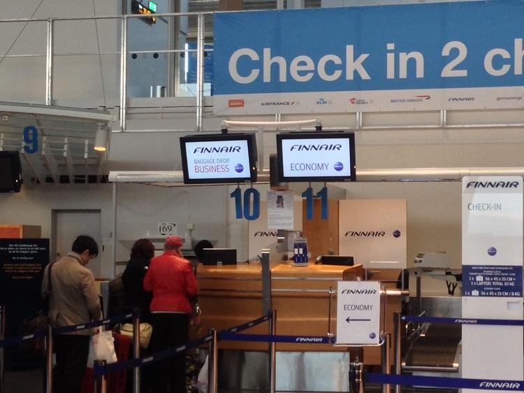 finnair check in online