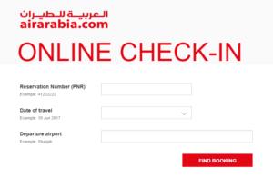 check in air arabia