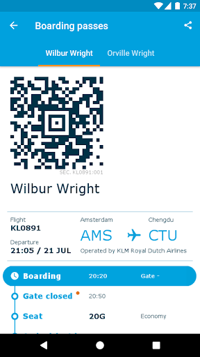 klm.com web check in