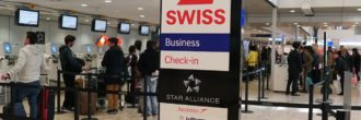 Swiss check in