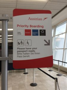 austrian airlines check in time