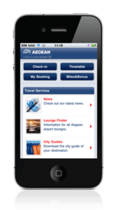 aegean check in mobile