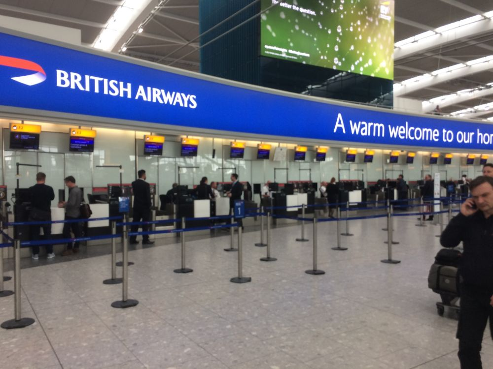 british check in
