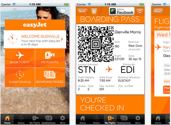 easyjet check in app
