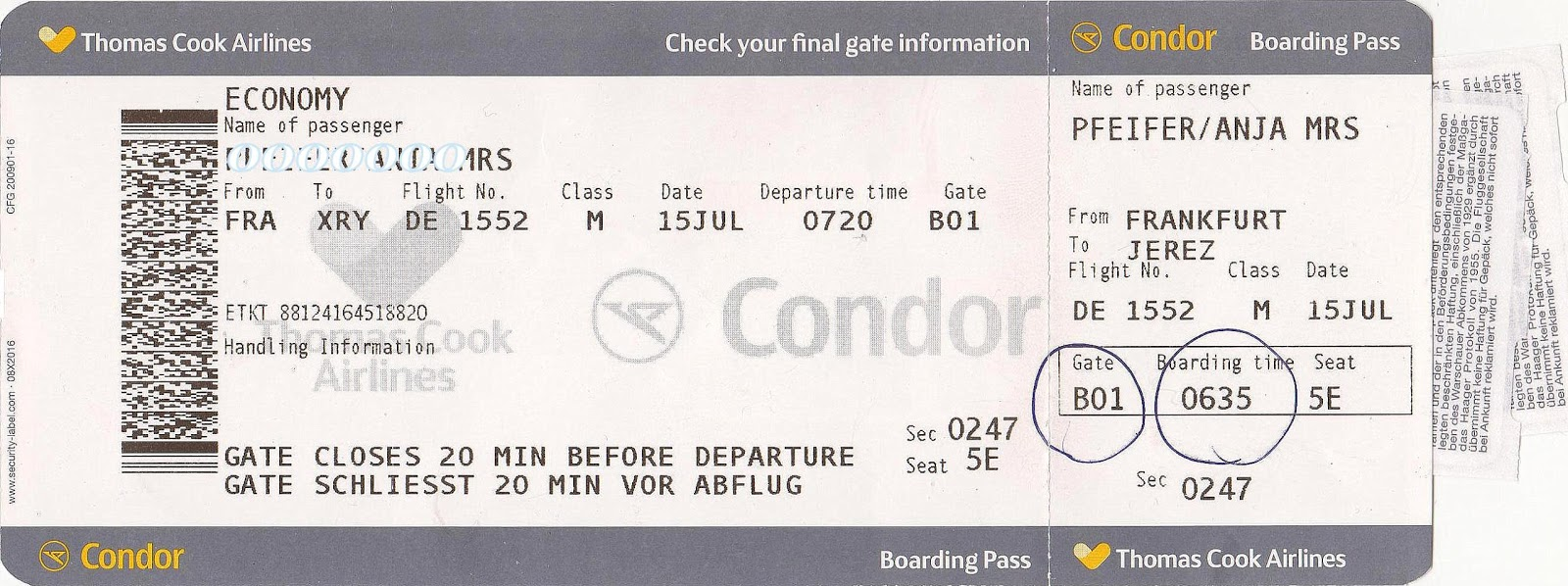 condor e ticket check in